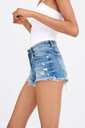 Zara Hot pants low rise aus denim