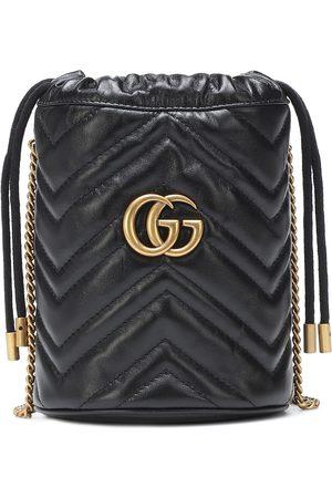 Gucci Bucket-Bag GG Marmont Mini aus Leder