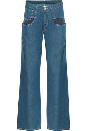 Maison Margiela Damen High Waisted - Mid-Rise Wide-Leg Jeans