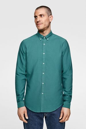 Zara Herren Business - Oxfordhemd mit strukturmuster