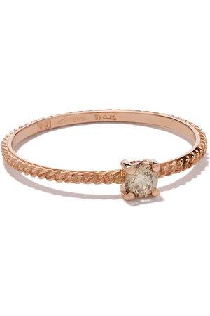 WOUTERS & HENDRIX 18kt 'Uzerai' Goldring mit Diamanten - Pink