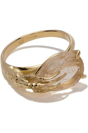 WOUTERS & HENDRIX 18kt 'Claw' Goldring mit Quarz - Yellow