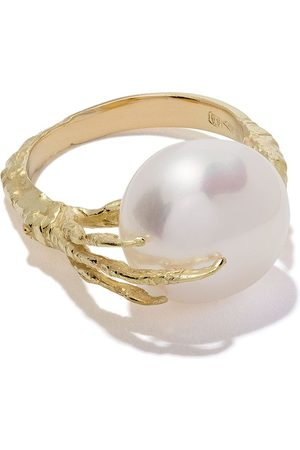 WOUTERS & HENDRIX 18kt 'Claw' Goldring mit Perle - Yellow