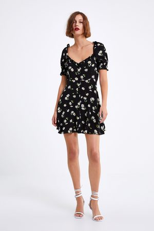 Zara Damen Bedruckte Kleider - Kleid mit blumenmuster