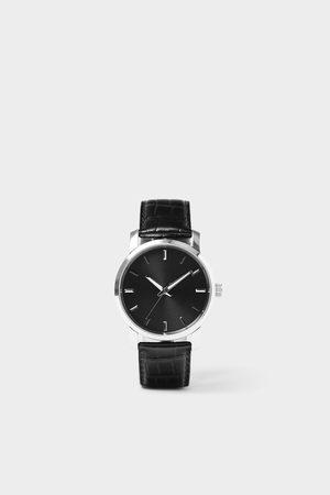Zara Herren Uhren - Minimalistische armbanduhr mit lederarmband in