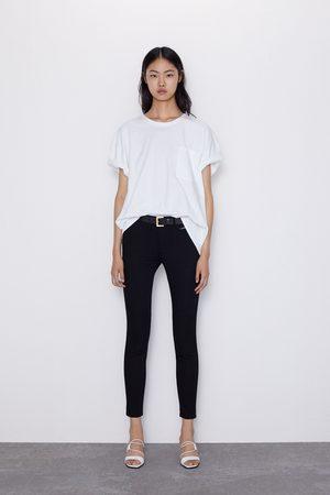 Zara Skinny-jeans z1975 mid rise mit ziernähten