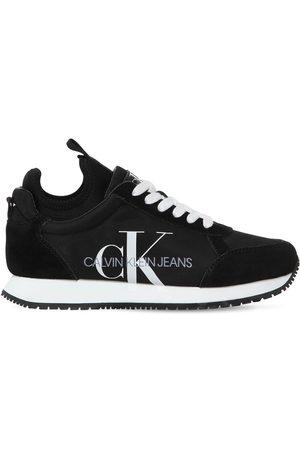 Calvin Klein 20mm Josslyn Nylon & Suede Sneakers