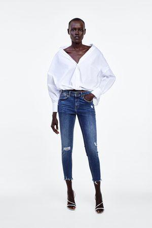 Zara Jeans z1975 mid rise skinny mit rissen