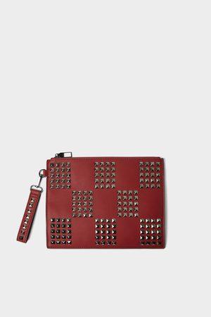 Zara Rote aktentasche mit nieten