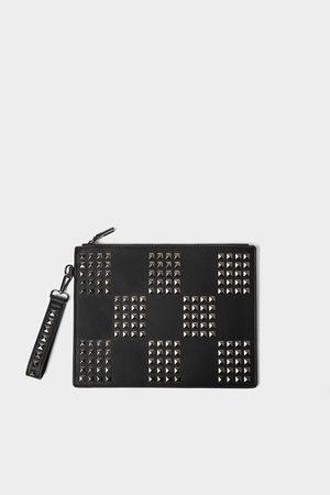 Zara Herren Laptop- & Aktentaschen - Schwarze aktentasche mit nieten
