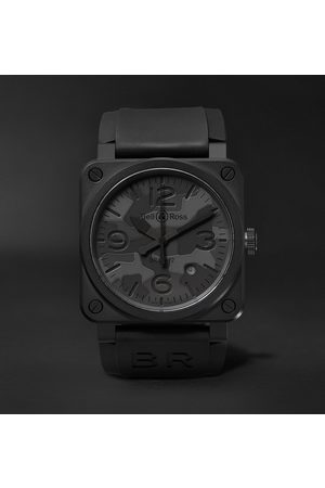 Bell & Ross Br 03-92 Camo 42mm Ceramic And Rubber Watch, Ref. No. Br0392-‐camo-‐ce/srb