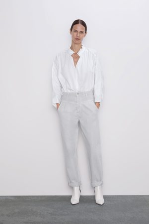 Zara Jeans zw premium '80s tapered ice stone