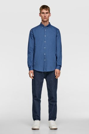 Zara Strukturiertes oxfordhemd