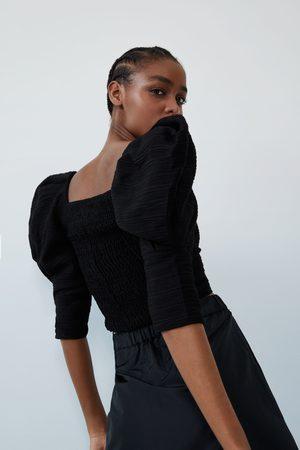 Zara Damen Oberbekleidung - Weites oberteil mit strukturmuster