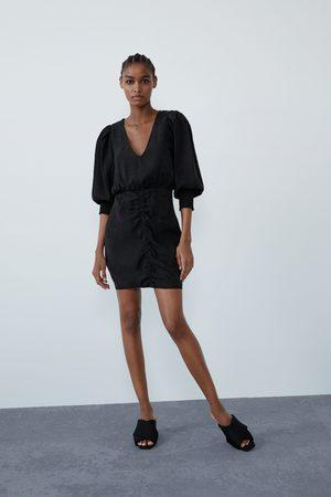 Zara Damen Kleider - Weites kleid mit raffung