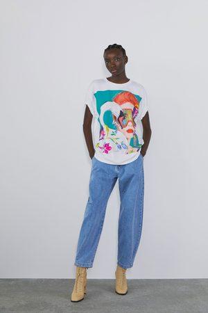 Zara Damen Shirts - Shirt mit print vorne