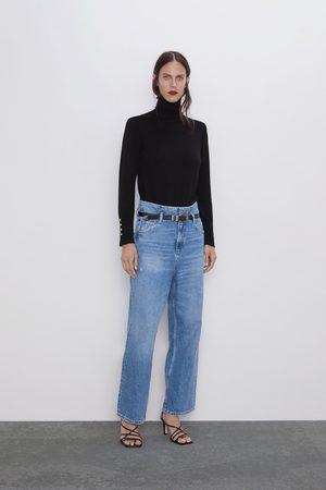 Zara Damen Hosen & Jeans - Jeans z1975 mit gürtel