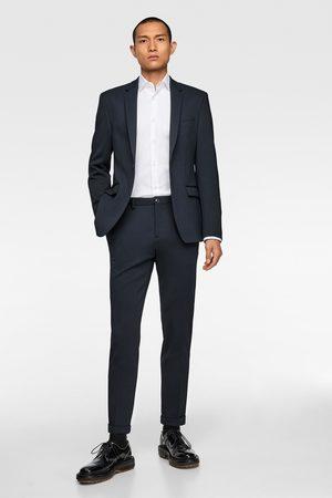 Zara Herren Stoffhosen - Anzughose mit strukturmuster – comfort knit 4 way