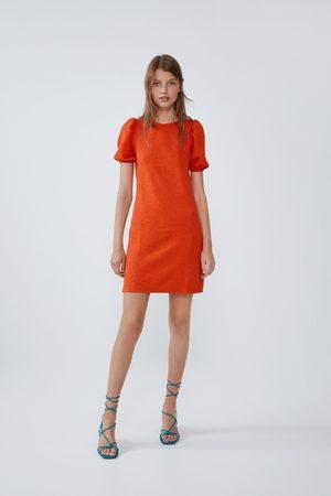 Zara Damen Kleider - Weites kleid mit strukturmuster