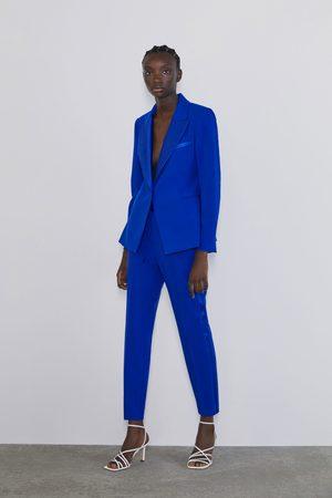Zara Damen Lange Hosen - Smokinghose mit seitenstreifen