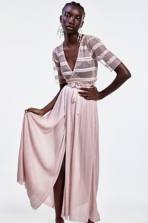 Zara Damen Strickkleider - Langes strickkleid