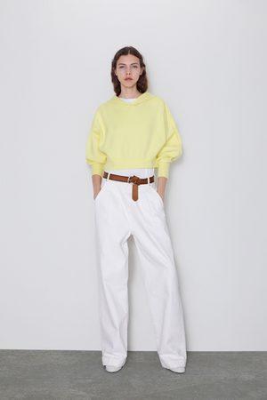 Zara Gestricktes sweatshirt mit kapuze
