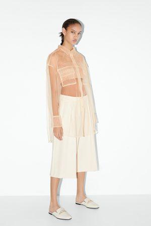 Zara Mokassin-pantolette aus leder