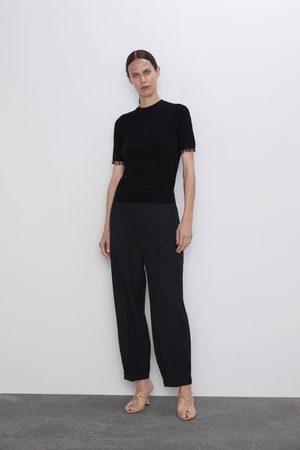 Zara Pullover aus mit tüll