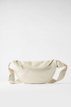 Zara Damen Taschen - Umhänge- und gürteltasche aus leder