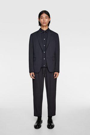 Zara Anzughose mit gestreiftem strukturmuster