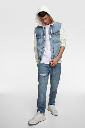 Zara Kombinierte jeansjacke