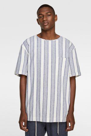 Zara Herren Shirts - Kombiniertes shirt mit streifen