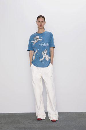 "Zara Damen Shirts - Shirt mit ""triumph der galatea""-print"