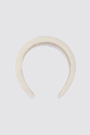 Zara Damen Haarschmuck - Gepolsterter haarreif mit perlen