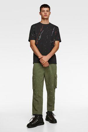 Zara Shirt mit farbklecksen
