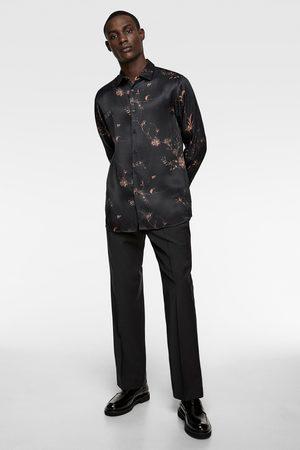 Zara Herren Hemden - Satiniertes hemd mit blumenmuster