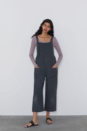 Zara Damen Taschen - Langer overall mit taschen
