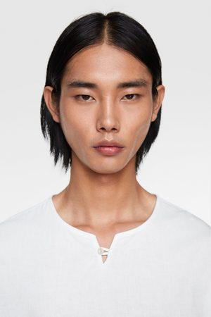 Zara Herren Hemden - Relaxed-fit-hemd aus festem stoff