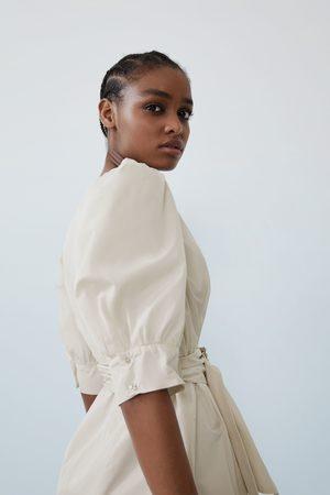 Zara Damen Kleider - Weites kleid mit gürtel