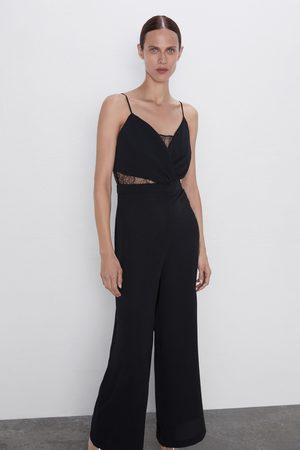 Zara Damen Jumpsuits - Overall mit spitze