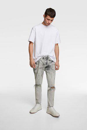 Zara Herren Slim - Slim-fit-jeans mit ketten