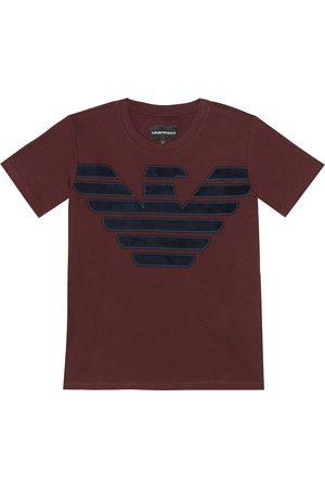 Emporio Armani Besticktes T-Shirt aus Baumwolle