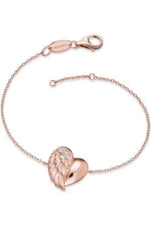 Engelsrufer Damen Armbänder - Armband - Herzflügel - Rosé plated - ERB-LILHEARTWING-R