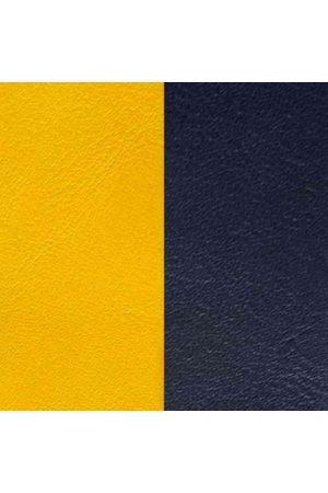 Les Georgettes Ringe - Ledereinsatz Ring - Gelb Blau - LEDA4