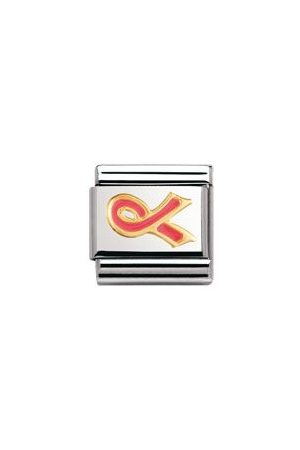 Nomination Armbänder - Classic - DAILY LIFE Edelstahl, Email und 18K-Gold (Schleife ROSA (Kampf gegen Krebs))
