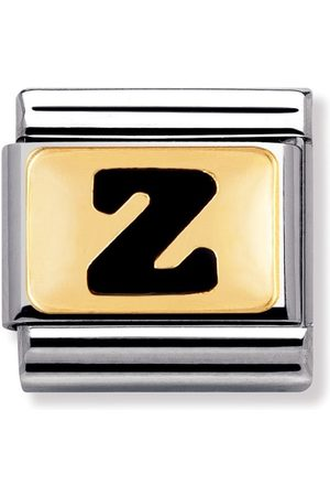 Nomination Armbänder - Classic - SCHWARZE BUCHSTABEN Edelstahl und 18K-Gold (Z)