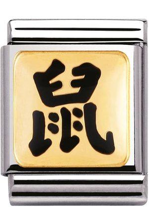 Nomination Armbänder - BIG - STERNZ. CHINA Edelstahl, Email und 18K-Gold (Maus STERNZEICHEN)