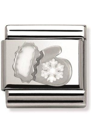 Nomination Handschuhe - Classic - SilverShine aus Edelstahl mit 925er und Emaille - Handschuh mit Schneeflocke - 330204/03
