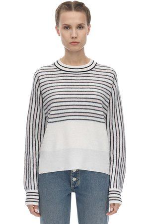 Sportmax Striped Cashmere Knit Sweater