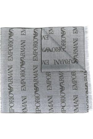 Emporio Armani Schal mit Logo-Stickerei